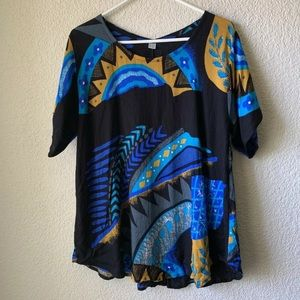Tops - Funky Boho Indonesian One Size Tunic Colorful OS